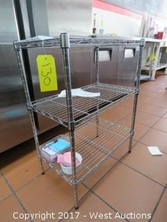 "30"" Tall Three Shelf Metro Wire Rack"