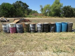 (11) Steel/Plastic Drums