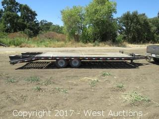 2010 PJ Trailers 9990 LBS Capacity 26' Flatbed Trailer