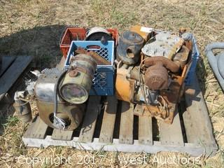 Wisconsin 2 cylinder/ 1 Cylinder motors with Misc New Holland Parts