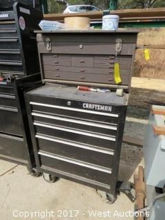 Craftsman Tool Chest - Double Tool Box Set-up with Contents of Tools
