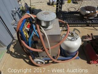 (1) Little Giant Hotomatic Gas Water Heater on Cart