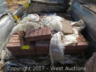 "Pallet of 15-1/2"" x 7-1/2 x 3-1/2"" Bricks"