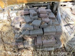 "Pallet of Various Pavers: 10""x6""x2"" and 6""x4""x2-1/2"""