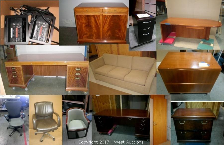 mahogany and cherry wood furniture and assorted executive furnishings u2039u203a
