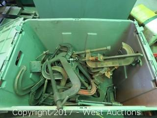 Heavy Duty C-Clamps in Tote