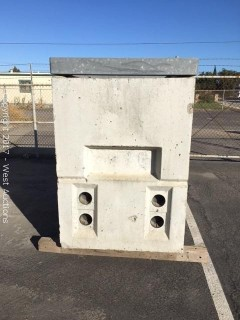 "Concrete Box With 5"" Steel Frame"