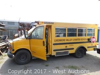 Bankruptcy Auction of School Bus; 2000 Chevrolet