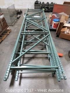 (6) Various Upright Pallet Racking