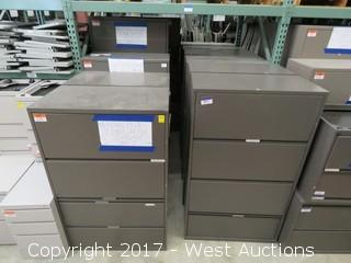 (12) Steel Upright File Cabinets
