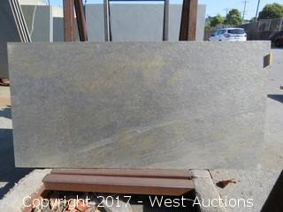 "(1)  Indian Sage Green Honed 47""x23""x3cm Slab"