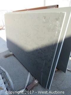 "(1)  Brazil Grey Honed 88""x53""x3cm Slab"