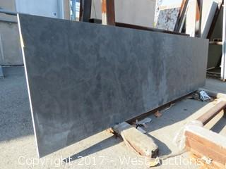 "(1)  Brazil Black Honed 86""x25""x3cm Slab"