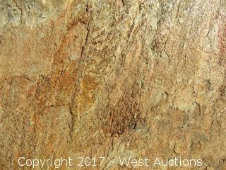 """(1)  China White Gold Quartz Natural 47""""x23""""x3cm Slab"""