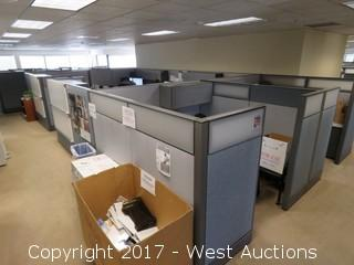 (2) Complete Cubicle Office Units with (1) Large Conference Sized Cubicle