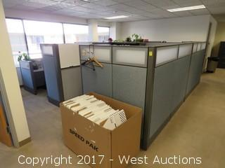 (4) Complete Cubicle Office Units
