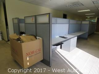 (2.5) Complete Cubicle Office Units