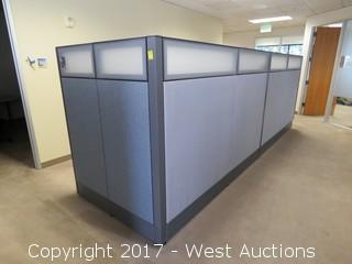 (2) Complete Cubicle Office Units