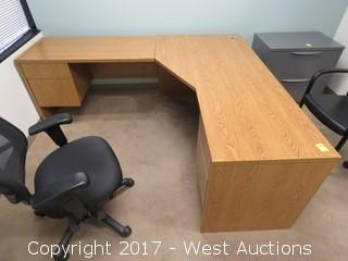 Bulk Lot; Office Furniture: (15) File Cabinets and (9) Desks