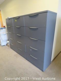 (10) Steel Upright Lateral File Cabinets