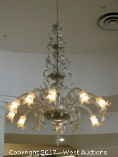 Glass Chandelier - 6' Wide x 8' Tall