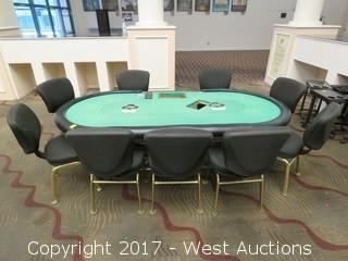 Commercial Poker Table with Chairs