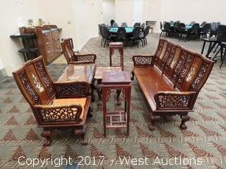 Antique Asian Furniture - Sofa Bench, Chairs and Tables