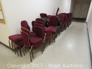 (77) Straight Back Meeting Room Chairs