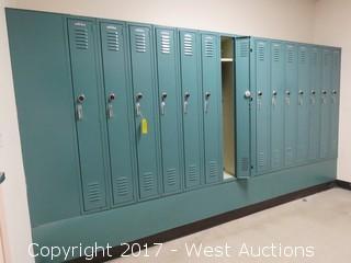 Single Tier Standard Metal Lockers (15) Units