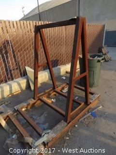 "51""  Tall x 34""  Wide Steel A-frame"