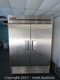 True T-49 2-Section Solid Door Reach-In Commercial Refrigerator