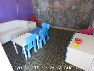 Contents of Room: Child Chairs and Tables and More