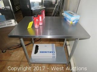 Jimex Ewt-2436 Stainless Steel Work Table, With Contents