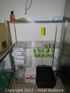 Stainless Steel Wire Rack With Contents
