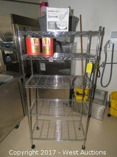 Stainless Steel Wire Rack And Contents