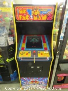 Midway Ms. Pac-Man Arcade Machine