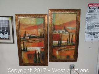 (2) Framed Paintings