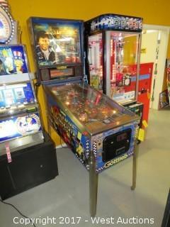 Gottlieb Mario Andertti Arcade Pinball Machine