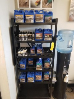 Miracle Sealants and Stone Maintenance Stand with (100) Bottles of Products