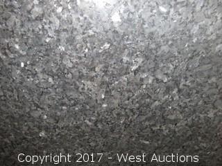 "(1) Blue Pearl Brushed Granite Slab 120""x73""x2cm"