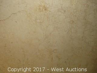 "(1) Eisa Brushed Limestone Slab 105""x63""x2cm"
