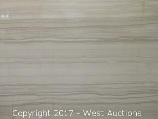 "(1) Levanda Honed Marble Slab - Horizontal Veins - 104""x59"""
