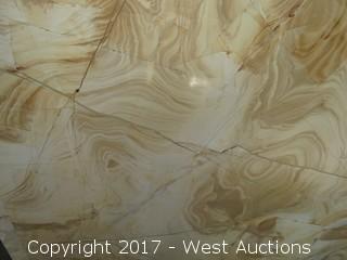 """(1) Teakwood Polished Marble Slab 88""""x58"""""""