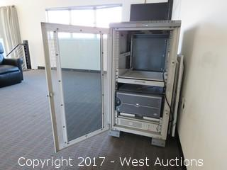 Dell Power Edge 2600 Server with Battery Backup and Server Rack