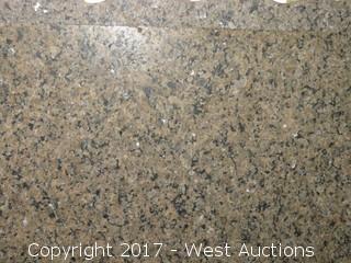 """(1) Tropical brown Granite Brush/Flame Slab 118""""x70"""""""