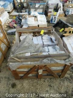 "Crate; 6"" x 3"" Crema Field Tumbled Tile"