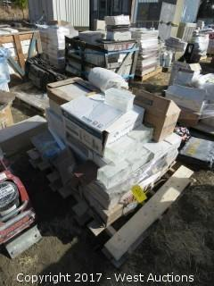 Pallet; Various Glass Blocks and Tile