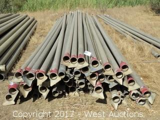 "(75+) 4"" x 30'  Galv. Steel Irrigation Pipe"