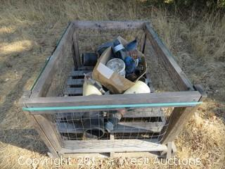 Crate with Assorted Irrigation Fittings