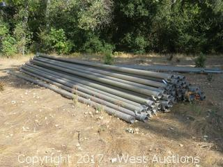 "(65)+ 5""x30' Aluminum Irrigation  Pipe"